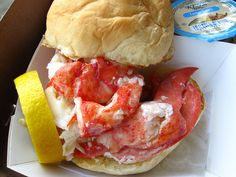 Lobster Roll from the Clam Shack in Kennebunkport, ME.  One of my favorite things to eat!