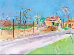 Spring Land was sold by Kieselbach Galéria, Budapest, on Thursday, June Auction Budapest, Landing, Auction, Paintings, Spring, Art, Art Background, Paint, Painting Art