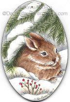 Winter Rabbit ePacket by Donna Hodson - PDF DOWNLOAD