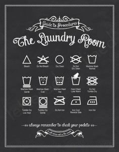 washing clothes guide/symbols
