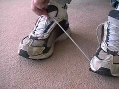 One handed shoe tying Repinned by SOS Inc. Resources http://pinterest.com/sostherapy.