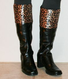 NEW Easy on and off BOOT CUFF topper - Tarzan Girl design makes every pair of boots a new pair of boots.