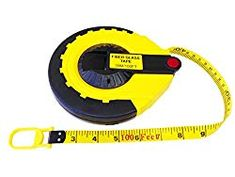 Metric /& Imperial Grauations Metal Claw and Handle PVC Coated Fibreglass Long Tape Measure 30m 100 ft Surveyors Landscapers Measuring Builders