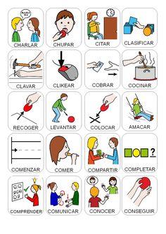Pecs Pictures, Montessori, Spanish, Teaching, Activities, Audio, Speech Pathology, Communication Activities, Activities For Autistic Children