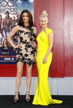 Catherine Zeta-Jones vs Julianne Hough. Love it when a 40-something outshines a 20-something.