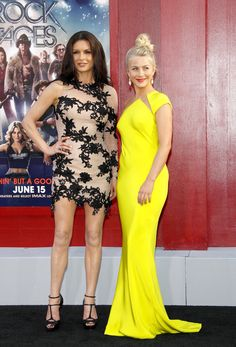Catherine Zeta-Jones vs Julianne Hough. Love it when a 40-something outshines a 20-something.
