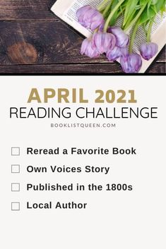 Booklist Queen April 2021 Reading Challenge. Looking for the ultimate Reading Challenge for 2021? Join me for the 2021 reading challenge and read a book a week with Booklist Queen! That's 52 prompts to keep you reading all year long, including these categories for the April Reading Challenge. Book Club Books, Book Nerd, Book Lists, Reading Lists, Best Books To Read, I Love Books, Good Books, Book Challenge, Reading Challenge