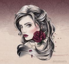 Mademoiselle Rose by Cristina Alonso, via Behance