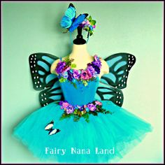 Fairy Costume SALE Blue Monarch Butterfly by FairyNanaLand, $185.00, maybe a petal skirt