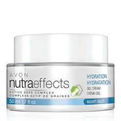 nutraeffects Hydration Night Gel Cream  Introducing the NutraEffects product line. The Hydration Collection is formulated to help boost skin's barrier function to help protect from dehydrating effects of external elements like wind, cold and dry air. Our formulas help keep skin looking and feeling moisturized, nourished and hydrated, which is essential to keeping skin looking healthy.