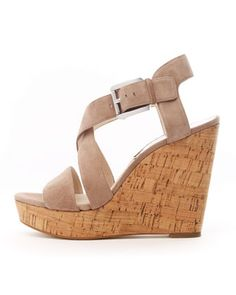MICHAEL Michael Kors Giovanna Suede Espadrille Wedge - In Khaki (because when it's a cute shoe you need one in every color) $135