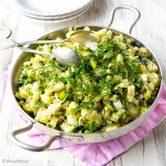 Raikas perunasalaatti | Reseptit | Kinuskikissa Chow Chow, Risotto, Salad Recipes, Potato Salad, Macaroni And Cheese, Food And Drink, Potatoes, Snacks, Dinner