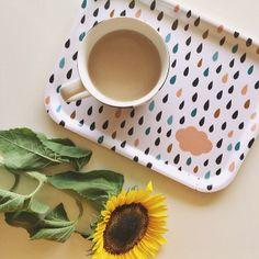 Cloud Print Tray // #cloud #rain #raindrop #raindrops #tray #tea #cup #cupoftea #gift #gifts #giftidea #shop #buy #oelwein #sunflower