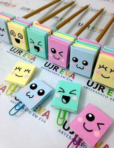 Lembrancinhas de Aniversário em EVA: Passo a Passo 27 Ideias Diy Crafts For Gifts, Foam Crafts, Creative Crafts, Easy Crafts, Bookmark Craft, Diy Bookmarks, Origami Bookmark, Diy Marque Page, Diy For Kids