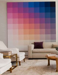 room wall decoration would be able for creating modern home interior because it is combined with amazing tones of furniture for elevating the performance of its pattern and design Cool Wall Art, Interior Paint Colors, Interior Painting, Living Room Paint, Living Rooms, Deco Design, Studio Design, Home And Deco, Home Interior