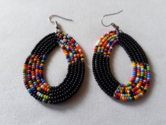 Yellow Beaded Earrings, Yellow African Earrings, Afrique Jewelry, African Jewelry Tribal Earrings, X Seed Bead Jewelry, Seed Bead Earrings, Beaded Jewelry, Seed Beads, Beaded Choker, Beaded Earrings, Etsy Earrings, Beaded Necklaces, African Beads Necklace