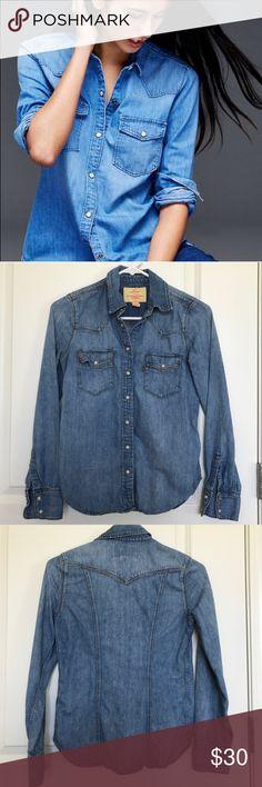 New listing! Levi's denim shirt Levi's denim shirt. Snap closures. Levi's Tops Button Down Shirts