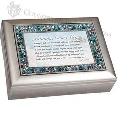 Amazon.com - Mommy Don't Cry Bereavement Jeweled Musical Music Jewelry Box Plays Amazing Grace -