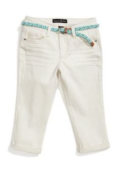 Vanilla Star  Twill Cropped Pants with Belt Girls 7-16