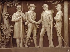 Peace at the End of the Civil War Frieze by Allyn Cox located in the Rotunda of the U.S. Capital (Architect of the Capitol)