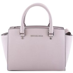 Michael Kors Selma Tote ($310) ❤ liked on Polyvore featuring bags, handbags, tote bags, bolsas, purses, tortora, handbags totes, man bag, pink hand bags and michael michael kors tote