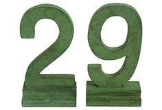 29 Number Set, 2 Pcs on OneKingsLane.com