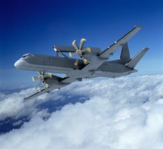Saab-2000 aircraft fitted with an Airborne Early Warning & Control System (AWACS)