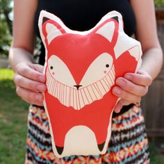 Made to Order - Orange Fox Pillow, handmade with love!