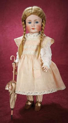 """Beautiful German Bisque Child """"Mein Liebling"""", Model 117, by Kammer and Reinhardt 3500/4500 Auctions Online 