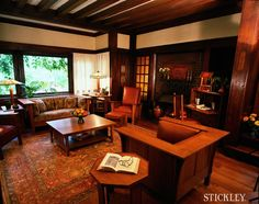 Living room with Stickley Craftsman furniture