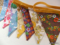 Bunting  Banner  Garland in Vintage Sheet by littleteawagon, £13.50