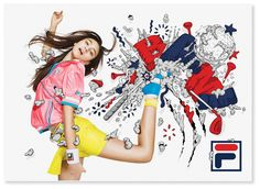 FILA Japan by Alex Trochut, via Behance