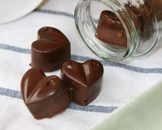 Chocolate Sweets, Chocolate Hearts, Goodies, Pudding, Desserts, Food, Sweets, Deserts, Dulce De Leche