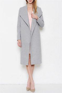 It's a Blogger World Coat - Grey