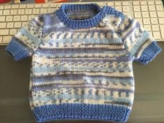 Knitted jumper for a friends 5 month old bub.