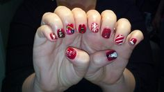 I luv when my clients let me get creative!  Merry Christmas nails!
