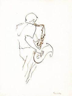 Jazz musicians_9 Jazz Painting, Play Poster, Line Artwork, Beautiful Sketches, Simple Doodles, Jazz Musicians, Blues Music, Pop Music, Line Drawing