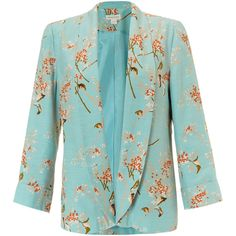 Monsoon Lily Print Jacket ($122) ❤ liked on Polyvore