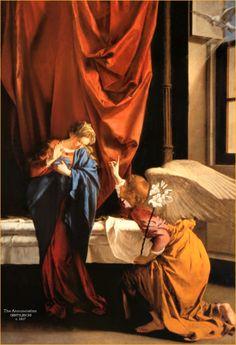 GENTILESCHI Artemisia - Italian (Rome 1593 -1652) - The Annunciation www.transitionresearchfoundation.com