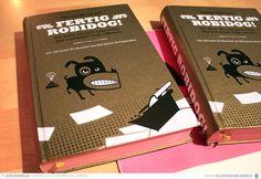 FERTIG ROBIDOG! Der Hund, der nicht mehr wollte, dass man seinen Gagu aufwischt - Buchherstellung Pustet Regensburg / Jerzovskaja / Verlag Herzglut / Schlafwandler - Buchcover in Gold