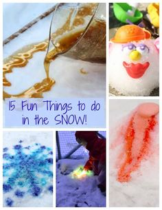 15 of the coolest things to do in the snow outside for kids!!