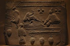 Treasures of Ancient China exhibit - pictorial brick depicting wine-making