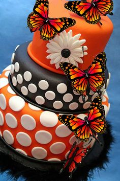 Edible Monarch Orange Butterfly Cake Decorations,cupcake toppers,cookie toppers,birthday,cake decorating,party decoration,sugar sheets