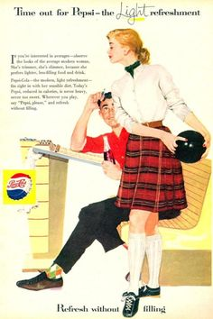 Pepsi-Cola Bowling Girl 1957 - Mad Men Art: The Vintage Advertisement Art Collection