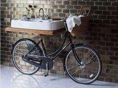 El lavabo bicicleta toda una genialidad