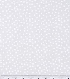 Keepsake Calico™ Cotton Fabric-Irregular White Dots On White