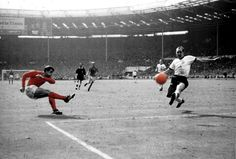 Geoff Hurst scores his second and England's third against Germany 1966 World Cup Final.