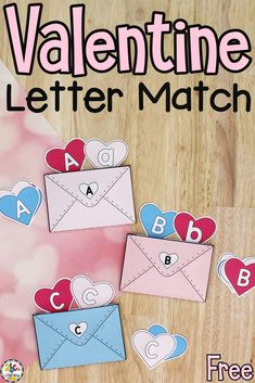 This Valentine Letter Match Activity is a fun, hands-on way for your preschoolers to practice identifying and matching letters!