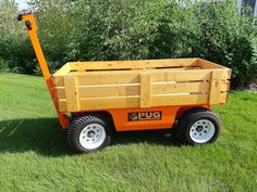 No need to keep bungying stuff on the cart with a custom wagon crate built to suit. Easy to lift off if you want to carry something else. Electric Beach, Beach Wagon, Beach Cart, Electric Utility, Pugs, Crates, Pallet, Platform, Trucks