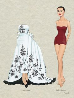 Audrey Hepburn paper doll by Gregg Nystrom